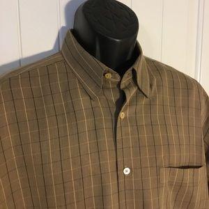 Bugatchi Uomo Shirt Long Sleeve Check Size Large